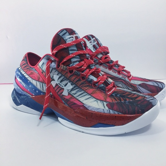 4846c68bc9c9 UNDER ARMOUR American Flag Sneaker Red White Blue